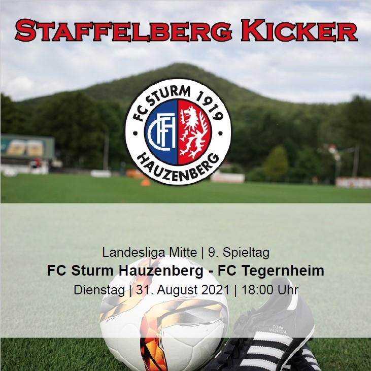 Staffelberg Kicker zum Heimspiel gegen den FC Tegernheim ist online