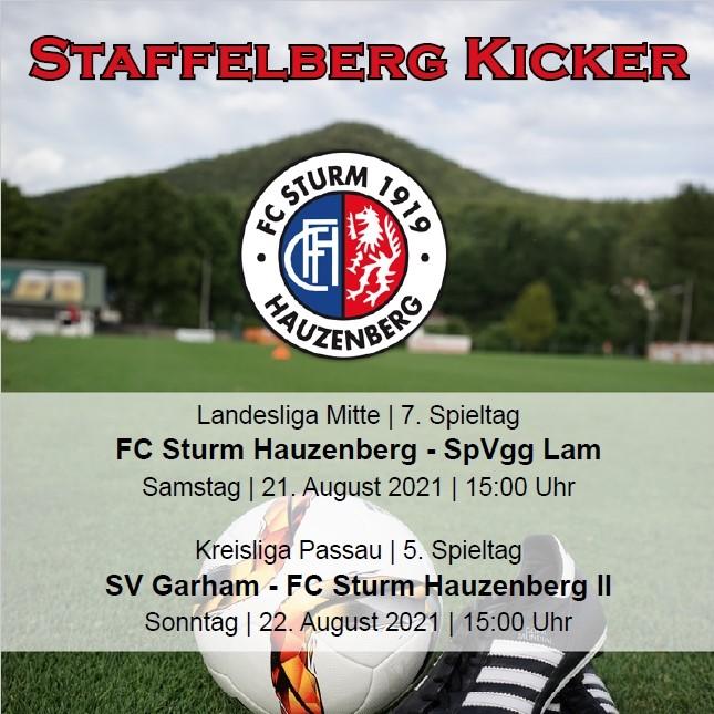 Staffelberg Kicker zum Heimspiel gegen die SpVgg Lam ist online