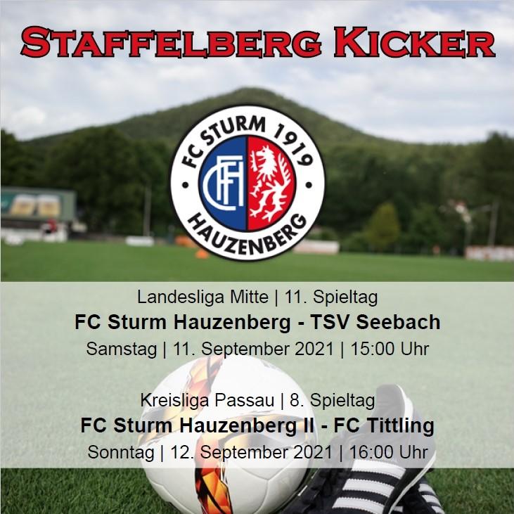 Staffelberg Kicker zum Heimspiel gegen den TSV Seebach ist online