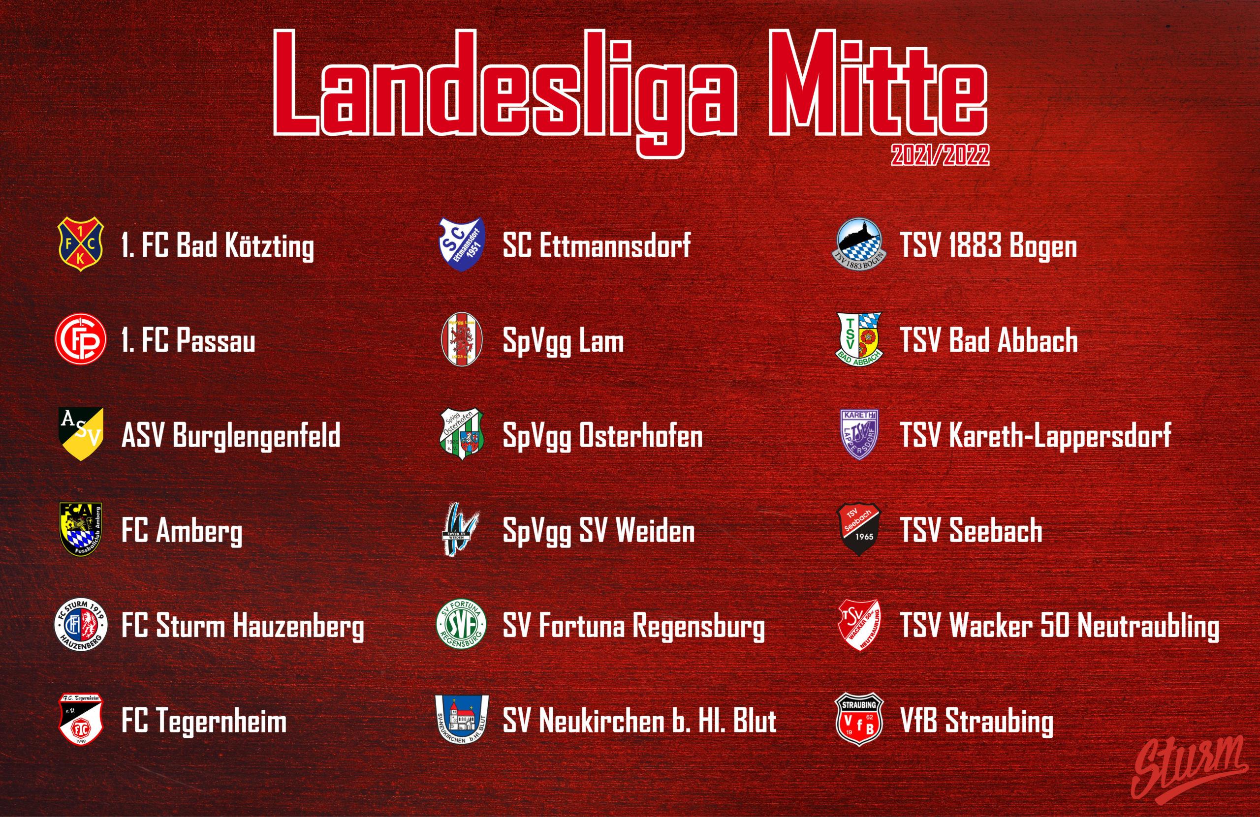 BFV gibt Ligeneinteilung bekannt – FC Sturm zurück in der Landesliga Mitte