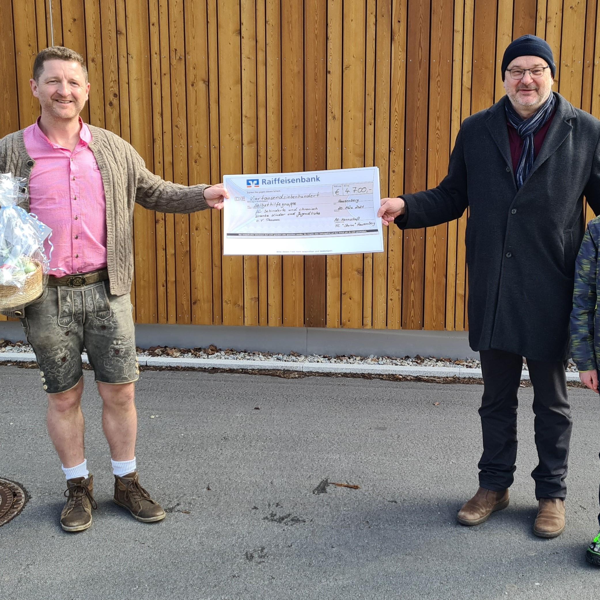 FC Sturm Spendenaktion sehr großer Erfolg – 4.700 Euro für den guten Zweck